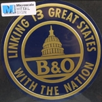 "8"" Die-Cut Metal Sign, B&O"