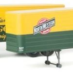 35' Fluted-Side Trailer 2-Pack - Assembled Chicago & North Western