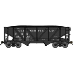 2-Bay Rebuilt War-Emergency Hopper w/Load - Ready to Run Clinchfield (black)