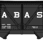 2-Bay Rebuilt War-Emergency Hopper w/Load 2-Pack - Ready to Run Wabash (black, Billboard Lettering)
