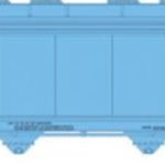 ACF 5701 Centerflow Plastics Hopper - Ready to Run - Master Oxy Vinyls BFGX #1602 (blue)