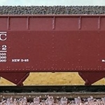 Bluford Shops N 66061 2-Bay Offset Side Hopper, New York Central #867532
