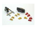 HO Rail Car Stops w/Derail Detail Set (12pc)