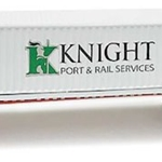 53' Container and Chassis - Assembled Knight Port & Rail Services (white, green; black Container, r)