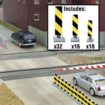 Quiet Crossing Lane Markers Kit (yellow, black stripes)