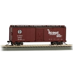 40' Map Box Car - Santa Fe Scout