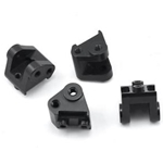 Brass Lower Shock Mnt (4pcs) Blk : Axial SCX10 II