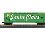 50' Dbl Door Plugged Boxcar w/LED Holiday Lights #251811