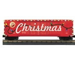 50' Dbl Door Plugged Boxcar w/LED Holiday Lights #251812