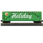 50' Dbl Door Plugged Boxcar w/LED Holiday Lights #251813