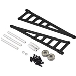 Aluminim Adjustable Wheelie Bar Kit-TRA (Blk)