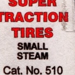 Calumet 510 Scale Super Traction Tires Small Steam