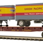 MTH Flat Car w/(2) PUP Trailers - Union Pacific