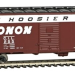 Monon #255 (Boxcar Red, white, black, The Hoosier Line Slogan)