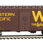 Western Pacific(TM) #20551 (Boxcar Red, yellow, Western Way Slogan, Large W
