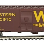 Western Pacific(TM) #20555 (Boxcar Red, yellow, Western Way Slogan, Large W