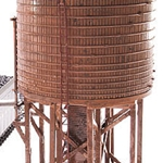 Broadway Limited  HO Scale Operating Water Tower w/Sound  Unlettered Weathered Brown