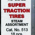 Calmumet Super Traction Tire Assortment pkg(18) - Steam Locos  6 Each #510, 511 & 512