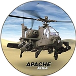Apache AH-64 Metal Sign