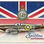 Spitfire Union Jack Metal Sign