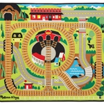 Melissa & Doug Round the Rails Train Rug
