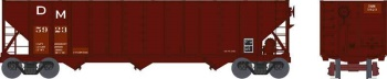 100-Ton Hopper Car, Detroit and Mackinac (Red) #5967